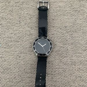 Marc Jacobs watch Black leather